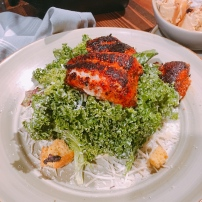 Kale Salad with Blackened Catfish