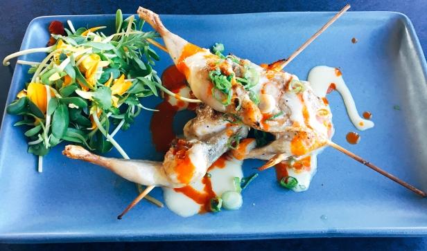 Grilled Quail Yakitori
