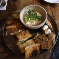 Confit Garlic, Ricotta, Grilled Baquet, EVOO
